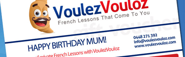 French lesson gift vouchers